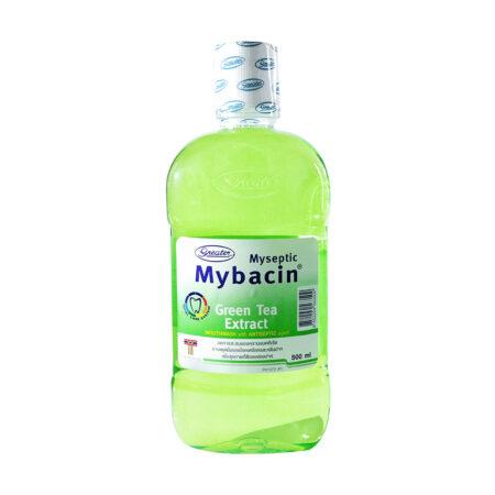 น้ำยาบ้วนปากมายบาซิน สูตรกรีนที 500ml. MyBacin Mouthwash Green Tea