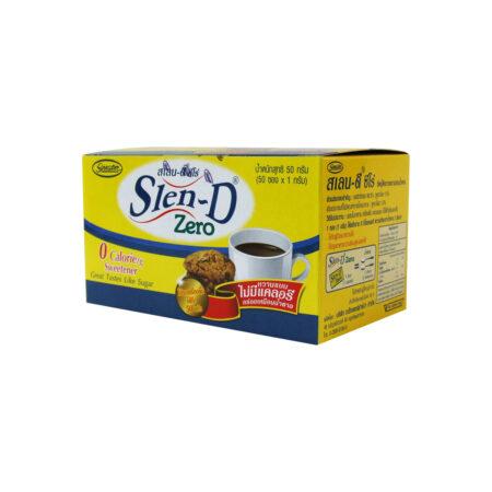 สเลน-ดี ซีโร่ สารให้ความหวานแทนน้ำตาล 50 ซอง x 1 กรัม Slen-D Zero 0 Calorie Sweetener