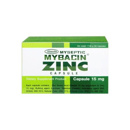 มายบาซิน ซิงค์ 30 แคปซูล MyBacin ZINC 30 Capsules